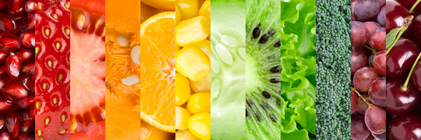 Ñollection with different fruits and vegetables